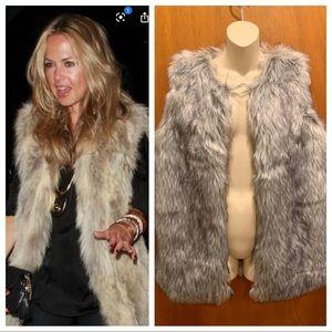 Rachel Zoe Faux Fur Vest Small NWT